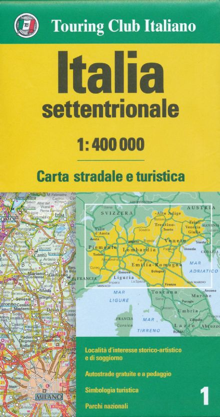 Northern Italy TCI 1:400,000